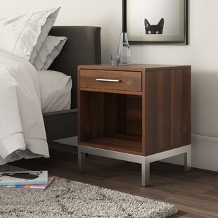 Mannings 1 Drawer Nightstand by Mercury Row