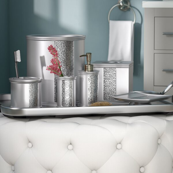Willa Arlo Interiors Irie 6 Piece Silver Bathroom Accessory Set Reviews Wayfair