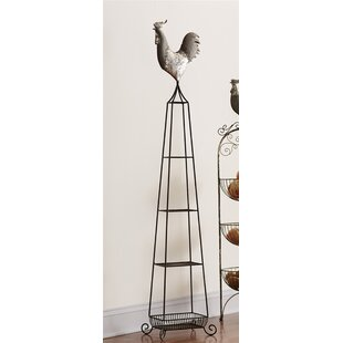 Rooster 4-Tier Etagere Bookcase Melrose International
