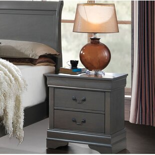 Bluefield Contemporary 2 Drawer Nightstand