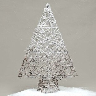 snowy ombre twig tabletop tree - White Twig Christmas Tree
