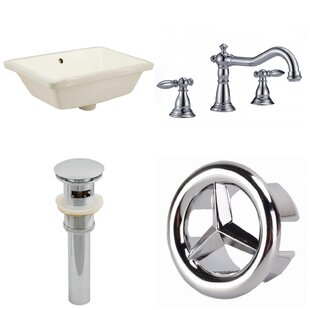 Compare prices CUPC Ceramic Rectangular Undermount Bathroom Sink with Faucet and Overflow ByRoyal Purple Bath Kitchen