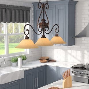 Gregory 3-Light Kitchen Island Pendant by Three Posts