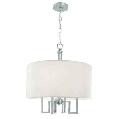 Borquez 4 light drum chandelier