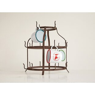 Gracie Oaks Trish Round Metal Bottle Holder Mug Tree