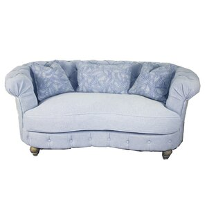 Down Chesterfield Loveseat by MOTI Furniture