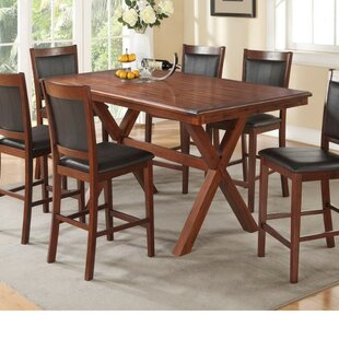 Millwood Pines Whitten Acacia Wood Dining Table