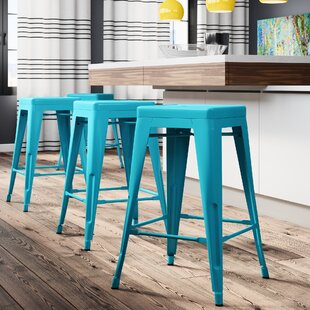 Compare prices Hadsell 24 Bar Stool (Set of 4) by Brayden Studio Reviews (2019) & Buyer's Guide