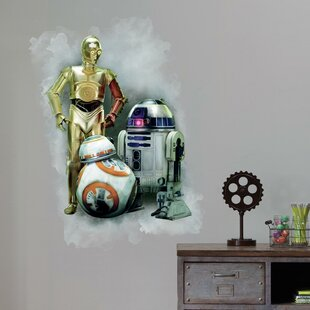 Star Wars VII R2D2/C3PO/BB-8 Peel and Stick Giant Wall Decal