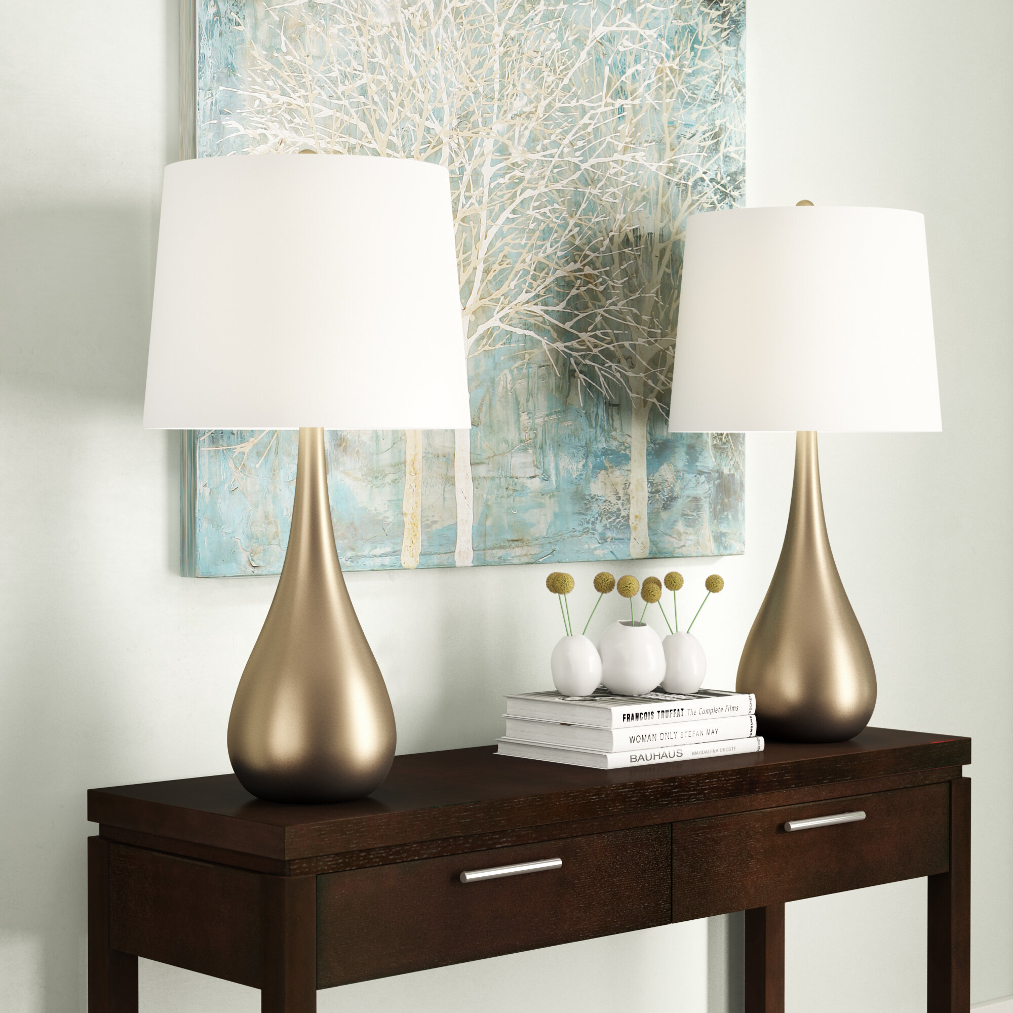 Gold Modern Contemporary Table Lamps You Ll Love In 2020 Wayfair