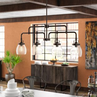 Panorama Point Heirloom Bronze 4 Light Kitchen Island Pendant