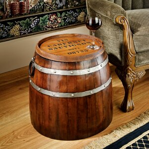 Leila Wine Barrel Side Table
