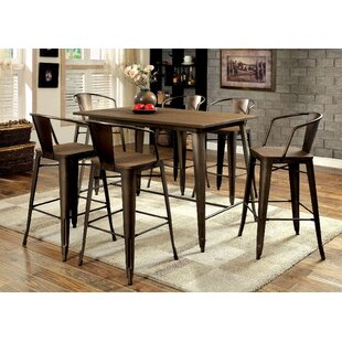 Nick 7 Piece Pub Table Set by 17 Stories