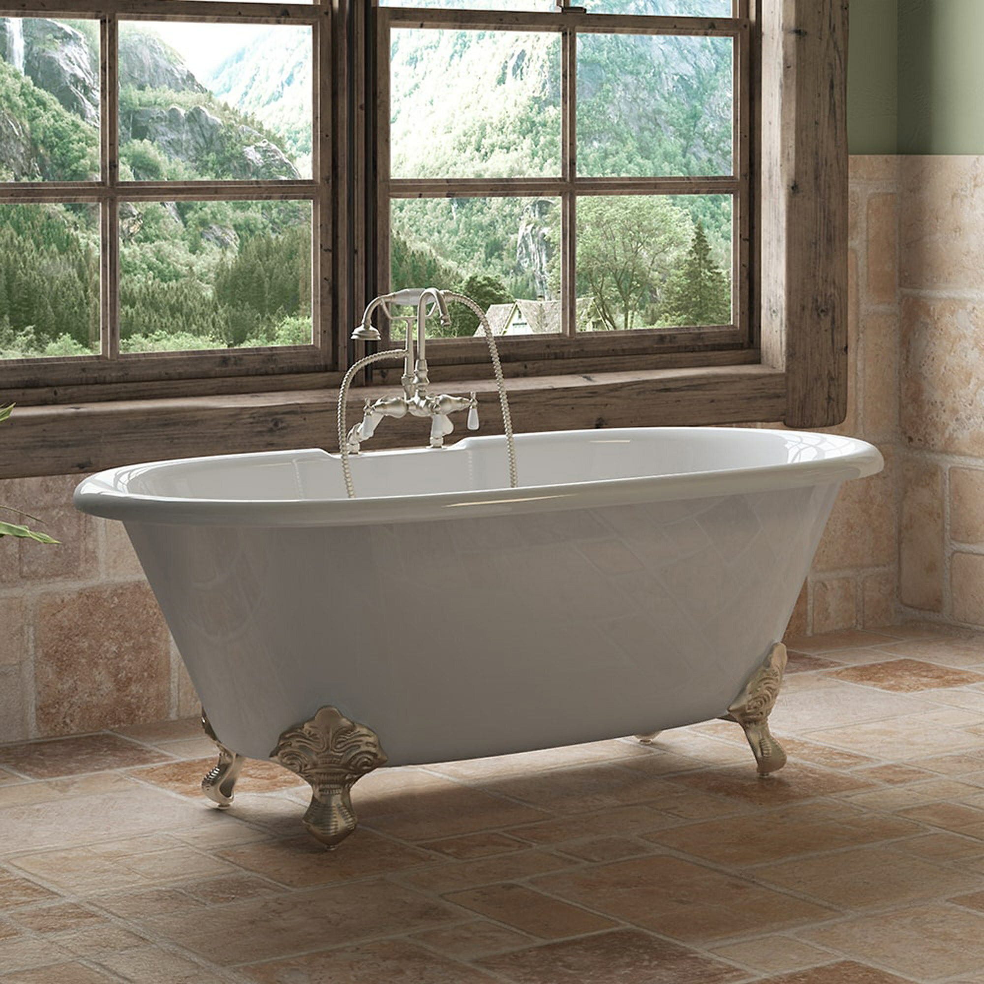 Picture of: Cambridge Plumbing 60 X 30 Clawfoot Bathtub Reviews Wayfair