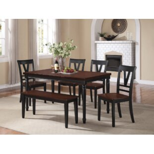 Wilburn 6 Piece Solid Wood Dining Set by ..
