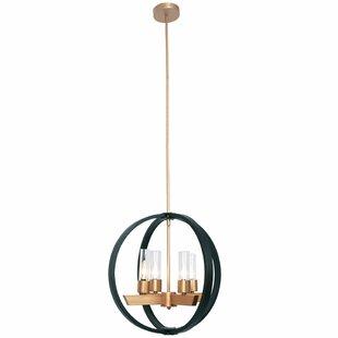 Lilwen 4-Lighted Globe Chandelier by Wrought Studio