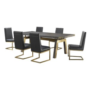 Rockport 7 Piece Dining Set Everly Quinn