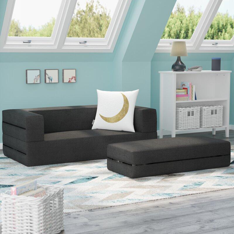 Duncan Kids Convertible Sleeper Sofa And Ottoman