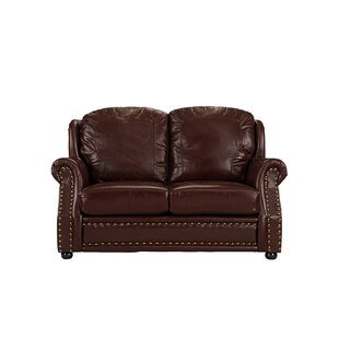 Hinton Charterhouse Leather Loveseat by Williston Forge