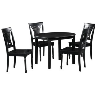 Spillers 5 Piece Extendable Solid Wood Dining Set by Winston Porter New