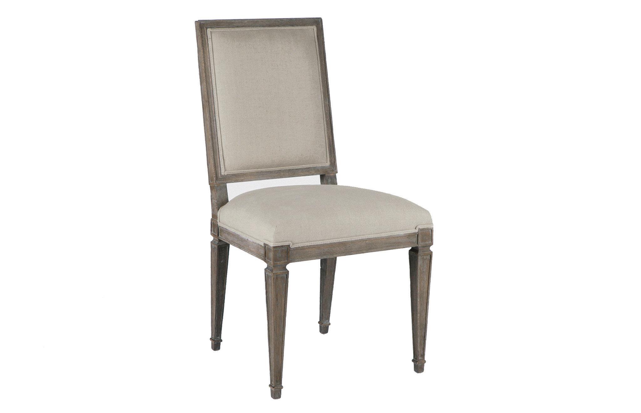 Gabby Linen Upholstered Side Chair Wayfair