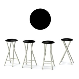 Whiskey and Cigars 30'' Patio Bar Stool with Cushion (Set of 4)