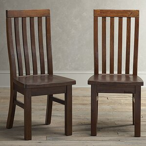 mercer solid wood dining chair set of 2