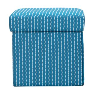 Serpentine Stripe Cerulean Storage Ottoman by Crayola LLC