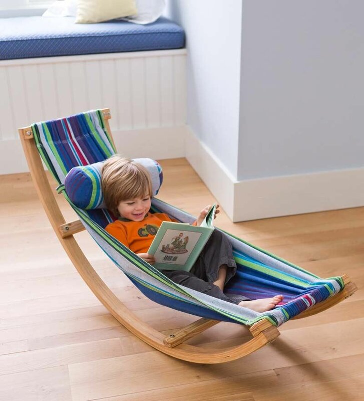 rocking cotton hammock with stand