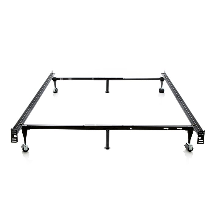 Symple Stuff Hicklin Heavy Duty 6-Leg Adjustable Metal Bed Frame ...