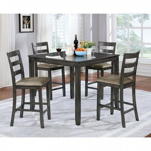 Dull Counter Height 5 Piece Pub Table Set Gracie Oaks