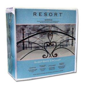 Resort Bed Bug Dust Mite and Allergen Zip Cover Hypoallergenic Waterproof Mattress Protector by Sleep Safe Bedding