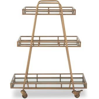 Ebern Designs Basco Bar Cart Wayfair