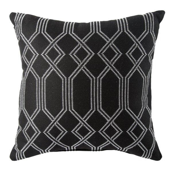 Jaipurliving Grayton Indoor Outdoor Trellis Black White Throw Pillow Perigold