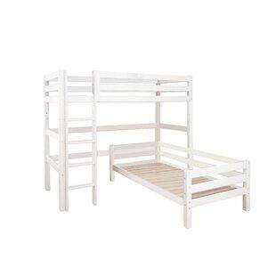 European Single L-Shaped Bunk Bed By Hoppekids