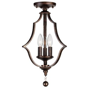 Belding 3-Light Semi Flush Mount by Astoria Grand