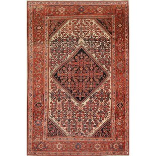One-of-a-Kind Skaggs Malayer Mishen Persian Hand-Knotted 4' 3'' x 6' 6'' Wool Beige/Ivory Area Rug ByIsabelline