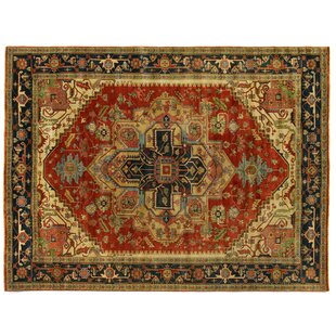 Savings Serapi Hand-Knotted Wool Red/Black Area Rug By Exquisite Rugs