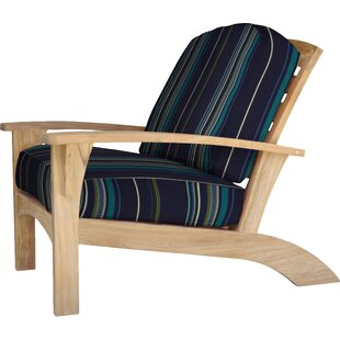 Frausto Teak Patio Chair with Sunbrella Cushions by Millwood Pines