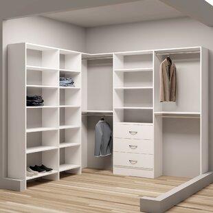 Bargain Demure Design 84.25W - 93W Closet System ByTidySquares Inc.
