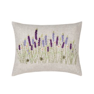 Gutirrez Lavender Ribbon Art Lumbar Pillow