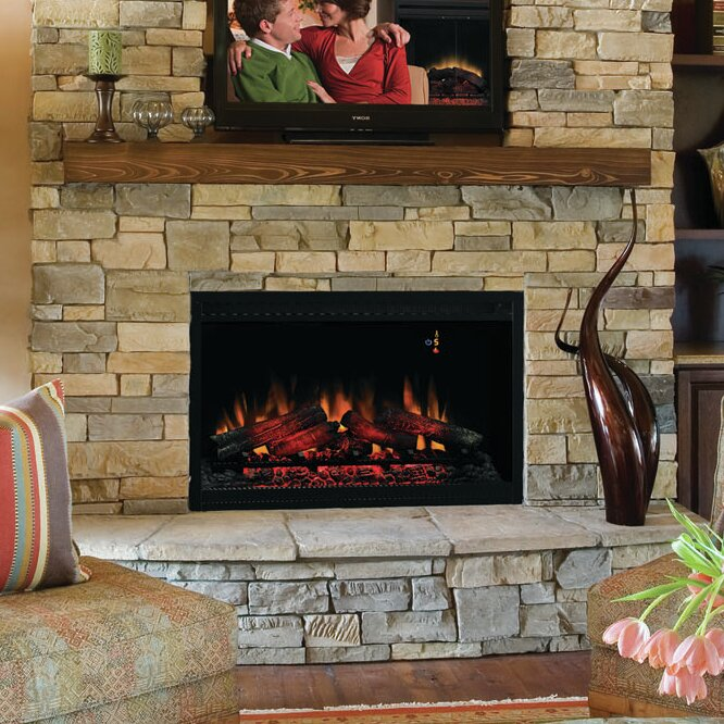 36 quot built in wall mount electric fireplace insert