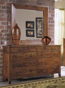 Kiska 9 Drawer Dresser with Mirror by Millwood Pines