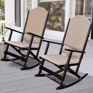 Cedar Creek Solid Wood Folding Rocking Chairs (Set of 2) by Wildon Home®