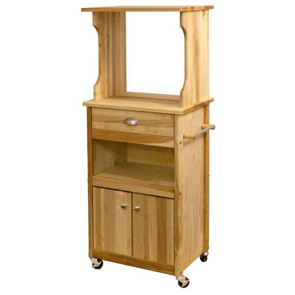 Catskill Craftsmen Microwave Cart With Butcher Block Top Reviews Wayfair