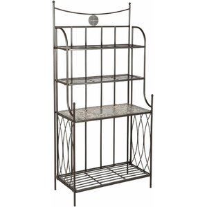 Wilhite Mosaic Outdoor Bakers Rack by Fleur De Lis Living