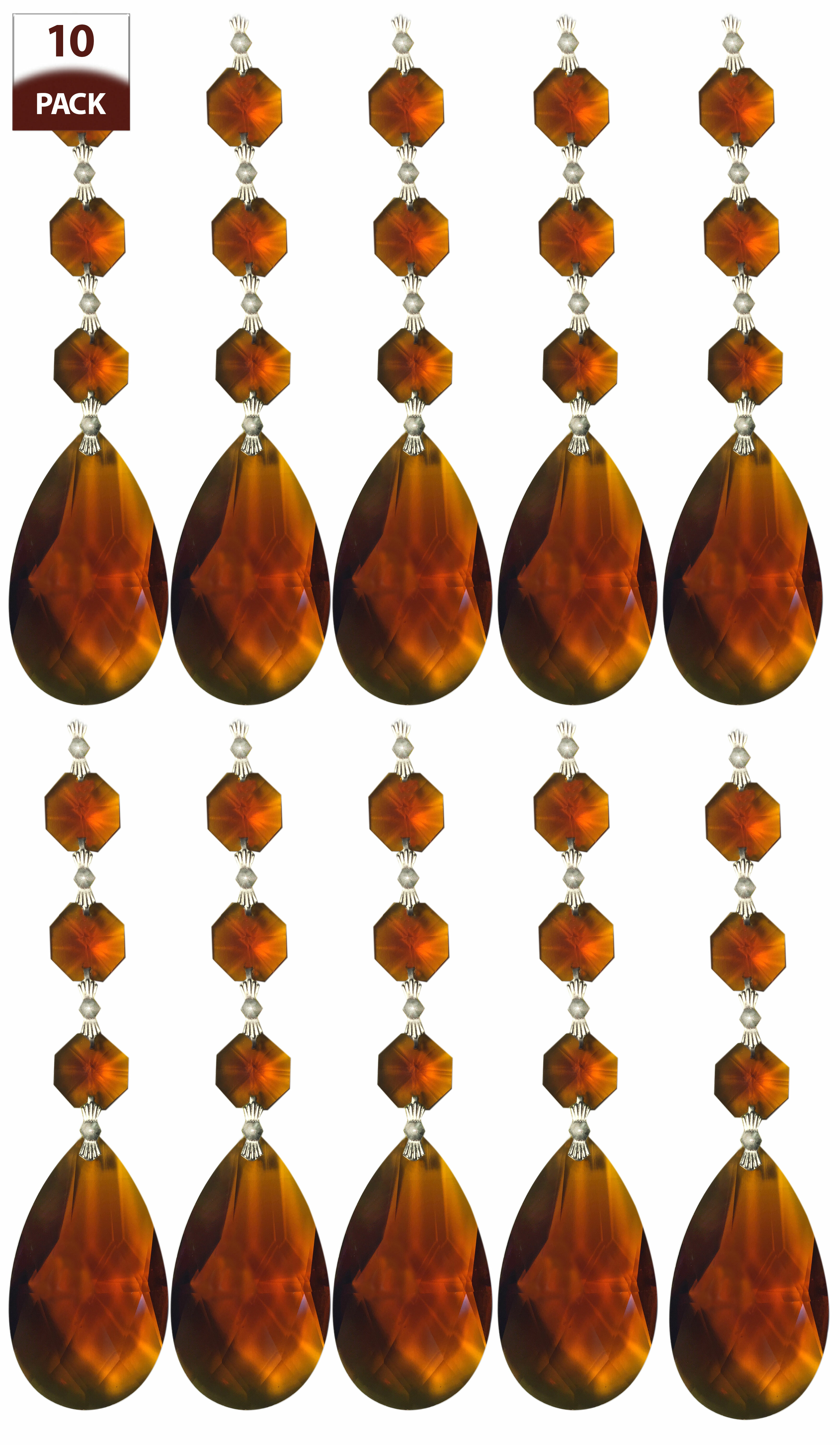 PAIR antique French Amber colour Glass tulip shade replacement chandelier