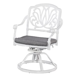 Nori Swivel Patio Dining Chair with Cushion