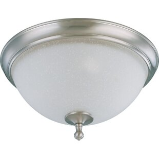 Price comparison Hudkins 2-Light Outdoor Flush Mount By Charlton Home