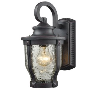 Bargain Melton 1-Light Outdoor Wall Lantern By Latitude Run